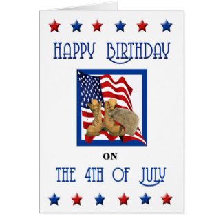 4th of July Birthday Greeting Cards
