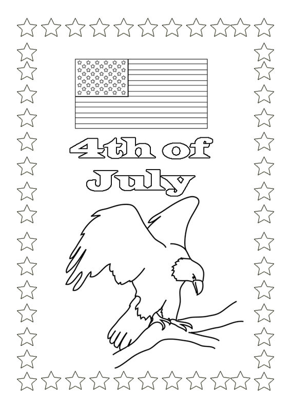 4th of July Coloring Pages Of Eagle
