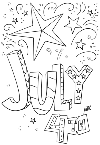 4th of July Coloring Pages Of Stars